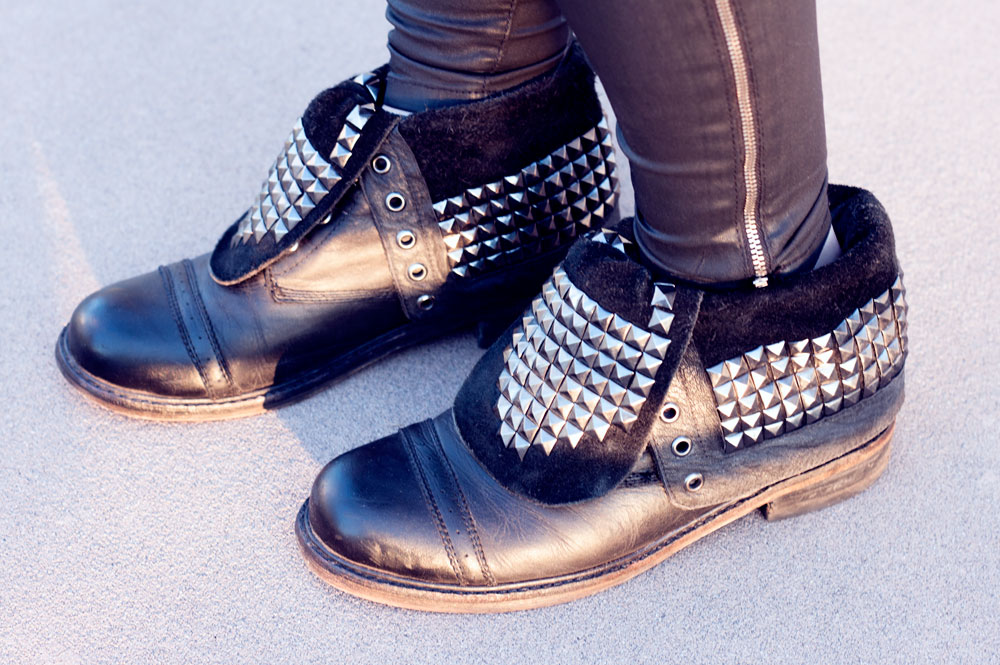 Studded boots, Tokyo, Japan