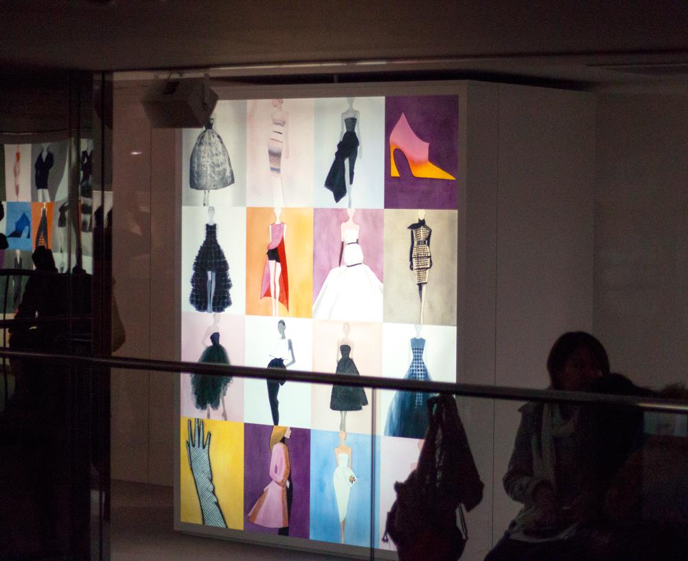 Esprit Dior Exhibition Japan, Ginza, dior sketches