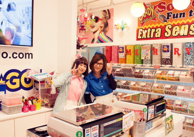 Candy a go go, Harajuku, Tokyo. Japan. Candy Store., colorful
