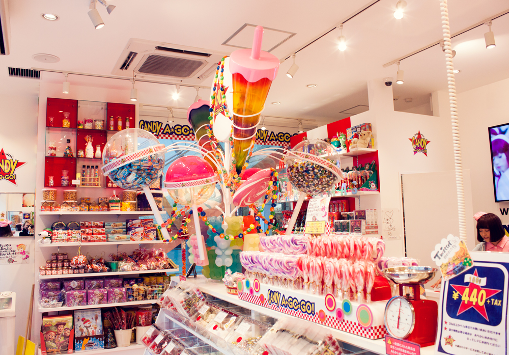 Candy a go go, Harajuku, Tokyo. Japan. Candy Store. Colorful