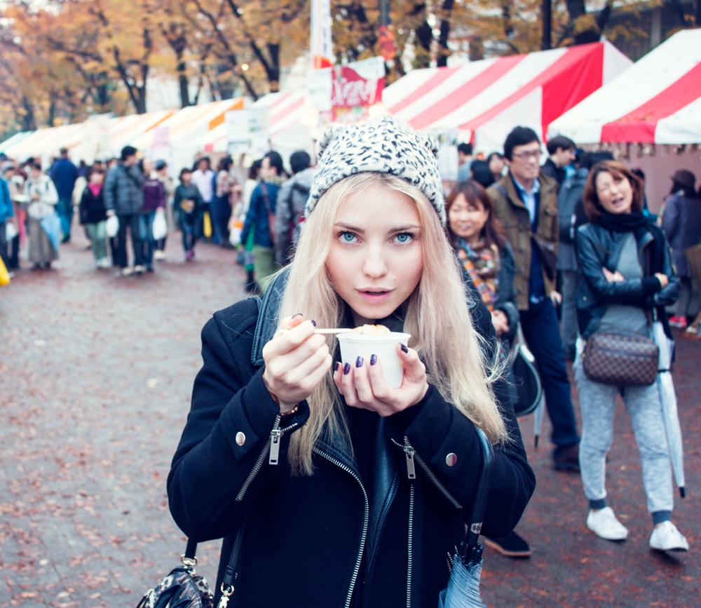 Tokyo Vege food festa, leopard hat, vegan, vegan food, tokyo, japan , 2014, loving hut soy soup