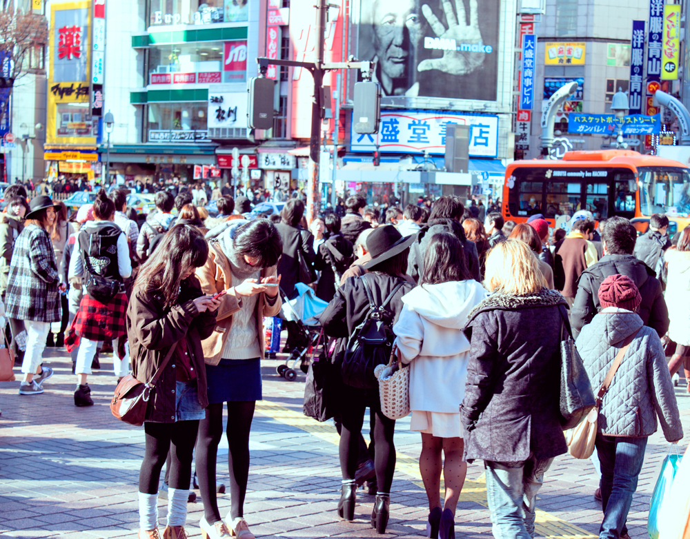 shibuya station, hachiko exit, shibuya crossing, shibuya scramble crossing, worlds biggest pedestrian crossing, japan, tokyo, veiled beanie, shibuya