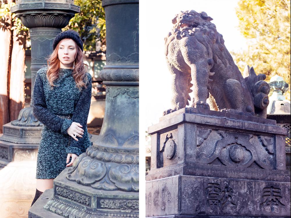 Ueno park, tokyo, japan, Ueno Tōshō-gū, Tosho gu, japanese history, shrine, tokyo fashion, all knits look, fashion blogger in tokyo