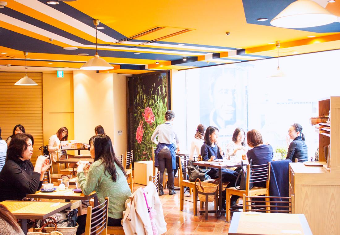 loccitane cafe shibuya, tokyo, shibuya, japan, loccitane, french cafe, tokyo sightseeing
