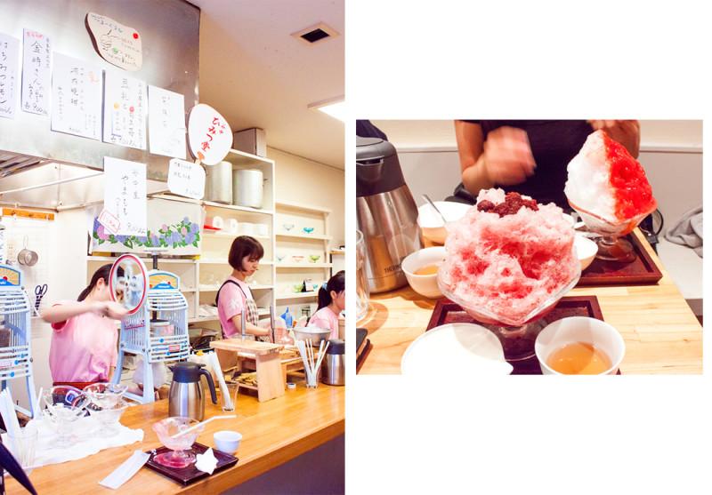 himitsudo kakigori, yanaka tokyo, japan, tokyo, kakigori, shaved ice, yamamomo, japanese citrus, japan queuing