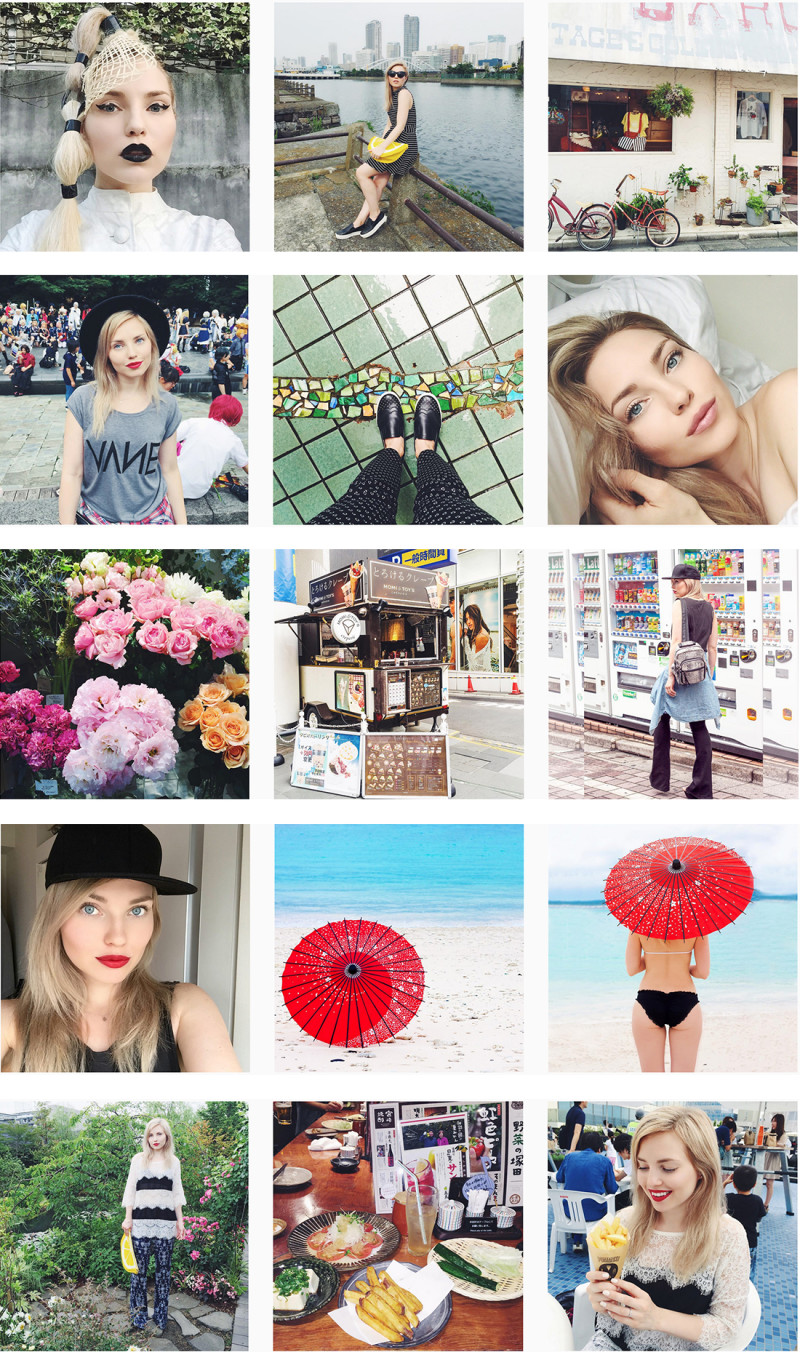 tokyo fashion blog, tokyo instagram, cherryblossomstreet instagram, tokyo fashion, wagasa, japanese umbrella, face ctockholm lipstick, creperie tokyo