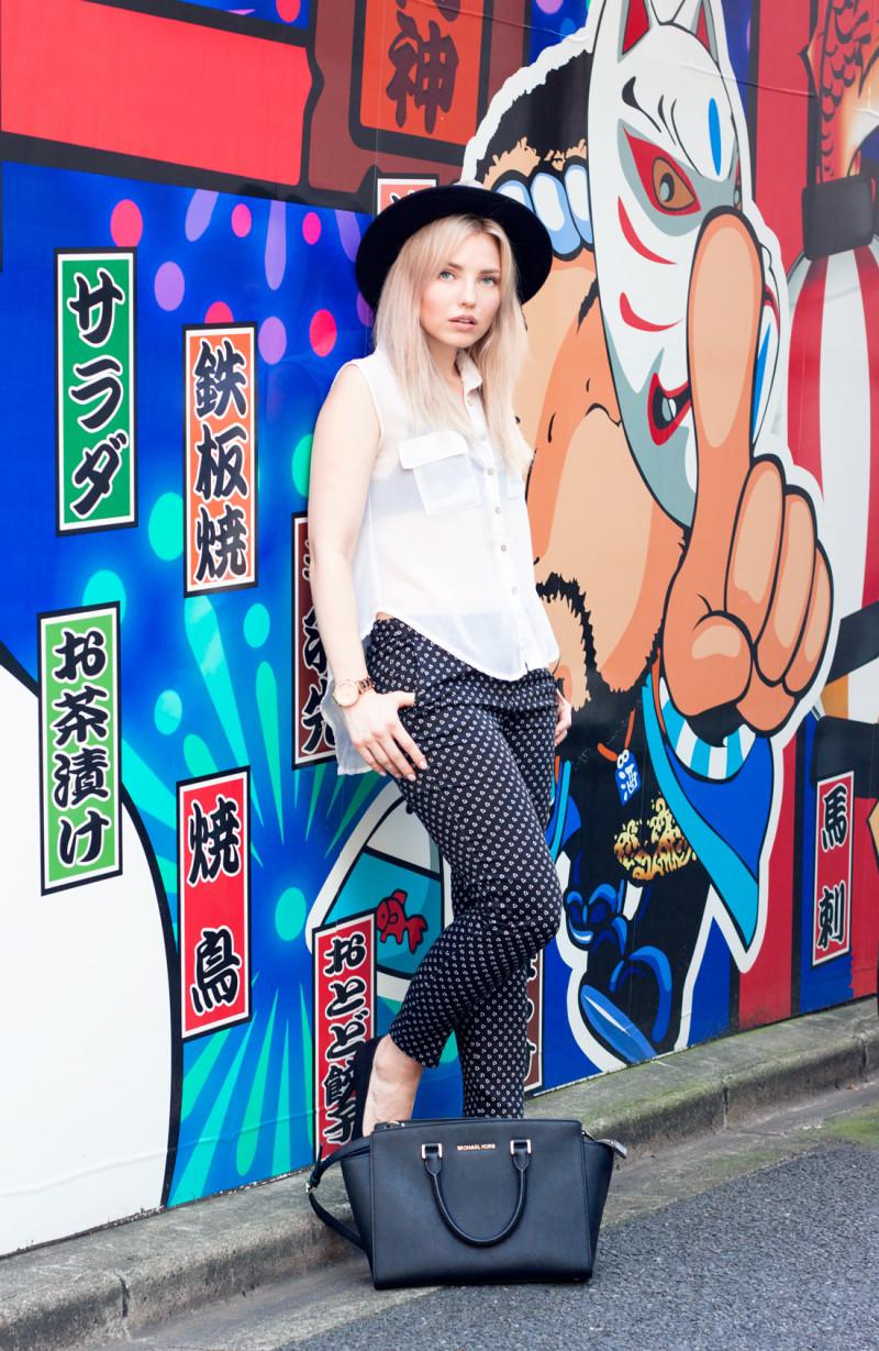 tokyo grafitti, jinbocho, japan, japanese fashion, slacks, hat, tokyo summer, tokyo fashion blog, swedish in tokyo