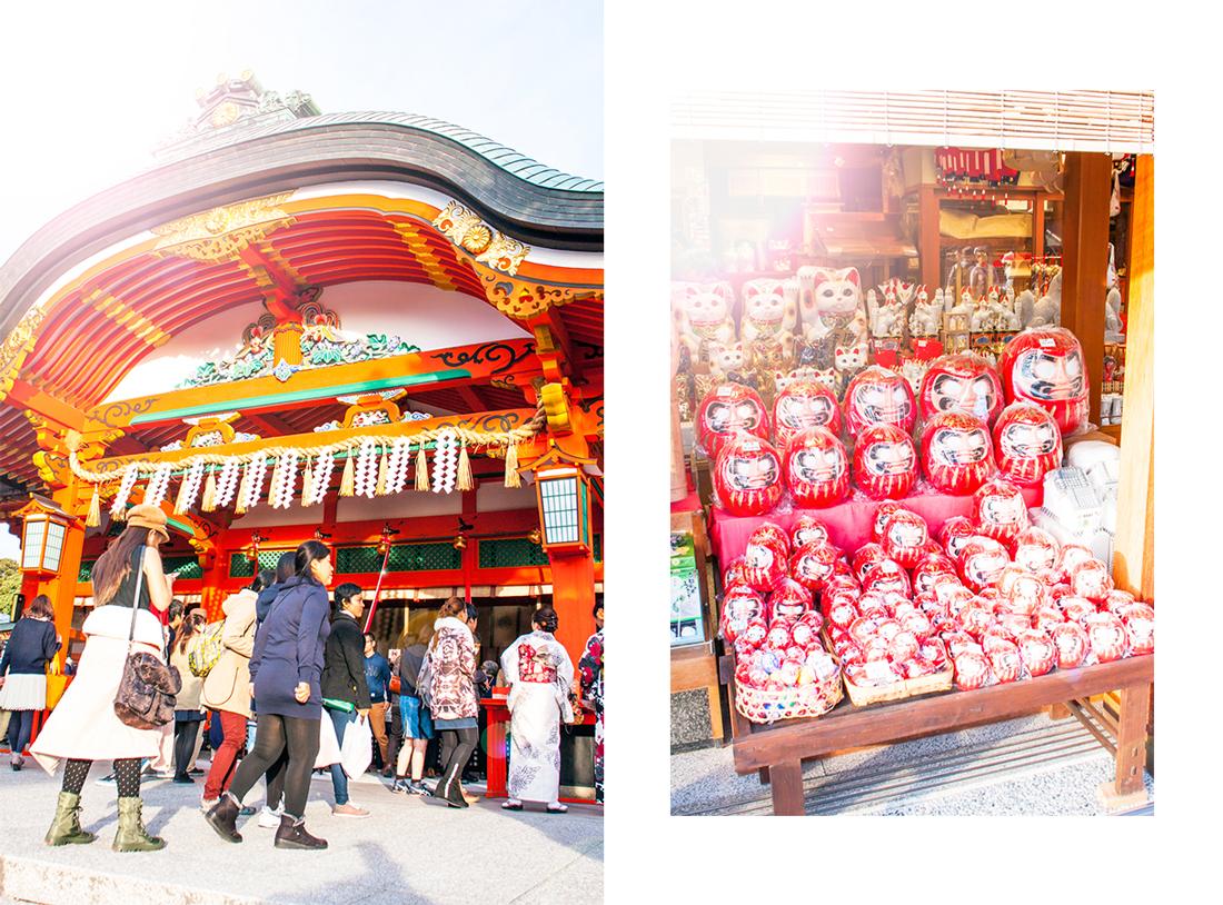 Fushimi Inari Shrine in Kyoto, kyoto, kyoto shrines, kyoto fox shrine, kyoto sunset, kyoto red shrine, kyoto sightseeing, kyoto red torii gated kyoto, henri bendel bag, henri bendel gold bag, henri bendel japan, japan sightseeing, japan fall, kyoto fall, purple suede skirt, cherryblossomstreet, japan fashion blog, japan sightseeing blog