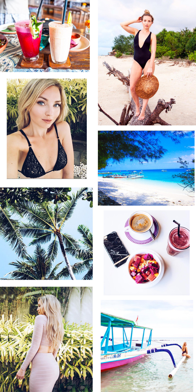 bali palm trees, cherryblossomstreet instagram, cherryblossomstreet blog, bali, bali vacation, bali vegan, bali smoothie, bali juice, gili air island, gili meno island, gili meno beach, richmondandfinch iPhone case