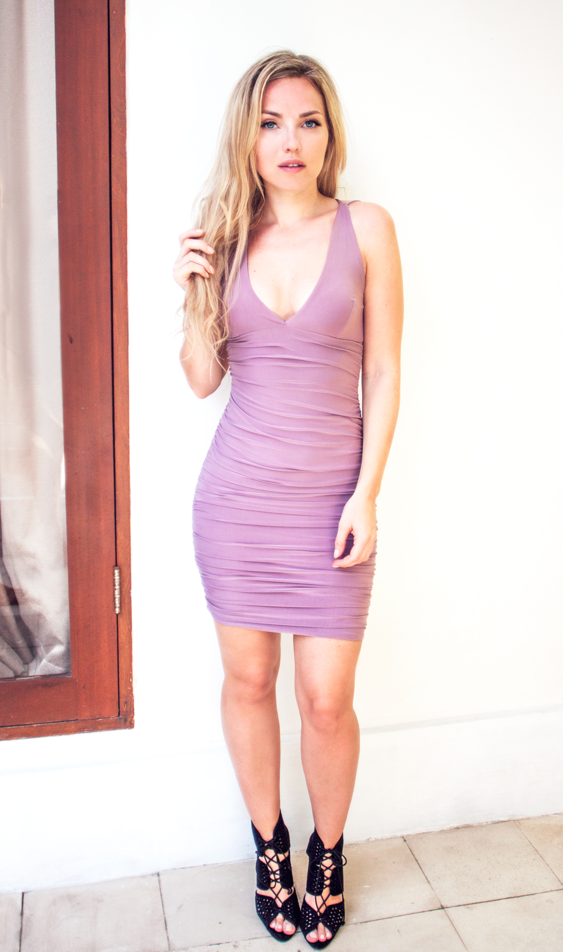 nelly dress, nelly cleaning, nelly body contour, nelly purple dress, seminyak villa, seminyak pool, bali, bali outfit, purple tight dress, rapunzel clip on set, rapunzel hair extensions, rapunzel of sweden, rapunzel of sweden clip in hair extensions, cherryblossomstreet