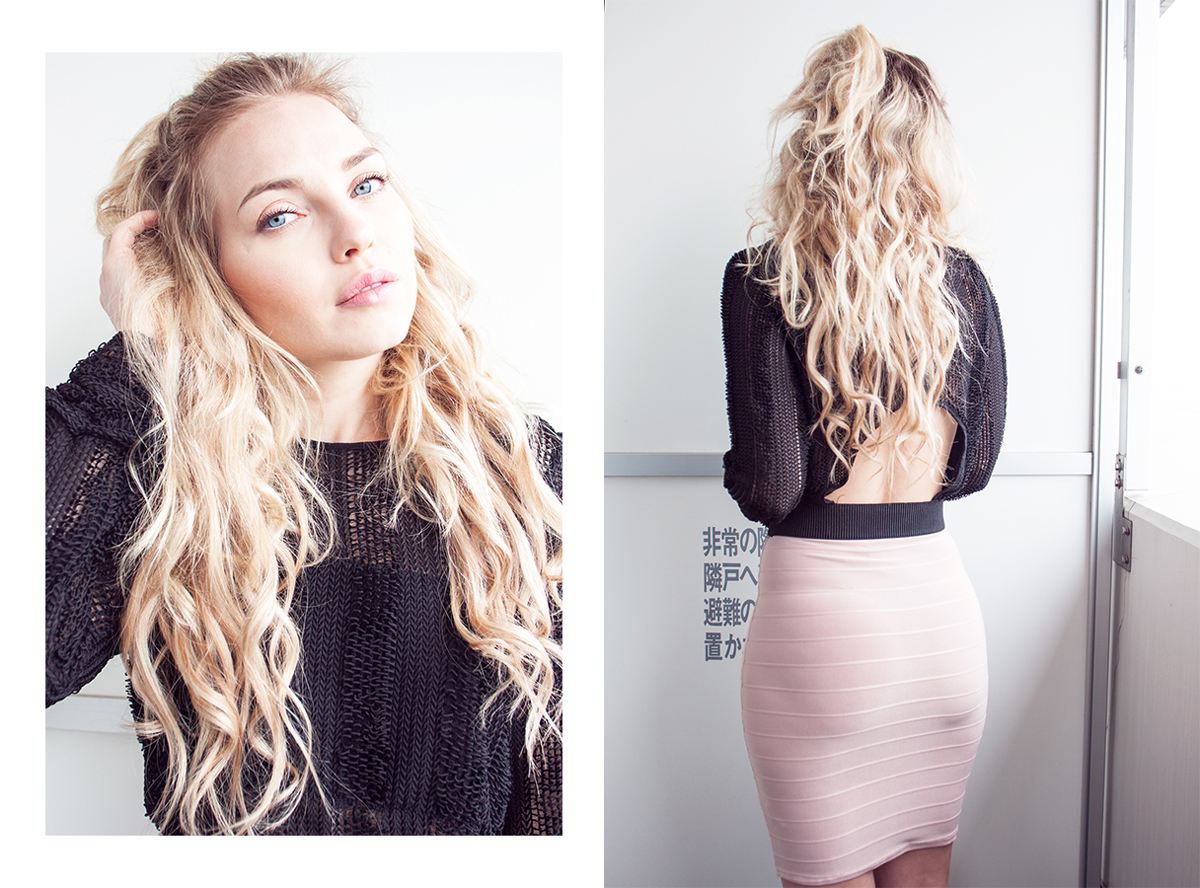 nude skirt, beige skirt, nelly skirt, hair, rapunzel of sweden clip in hair extensions, clip in hair extensions, blonde hair extensions, hair extensions japan, hair extensions sweden, fashion blog, cherryblossomstreet, cherryblossomstreet blog