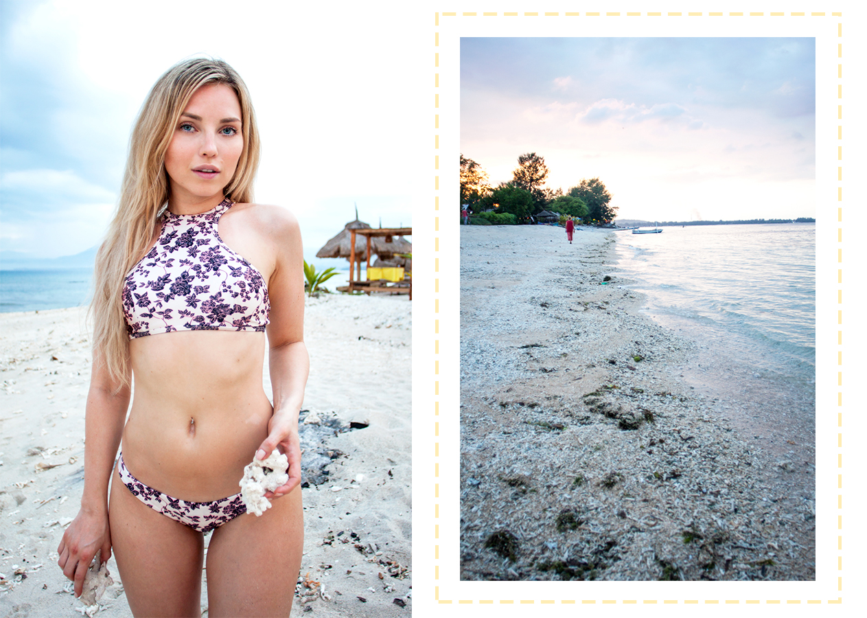 gili air, gili air beach, gili air island, gili air sunset, 2chillies bikini, bali vacation, bali beach, bali sunset, boxer top bikini, bali mermaid, repunzel of sweden hair extensions